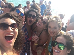 Beauties on a boat for Natalie's birthday!